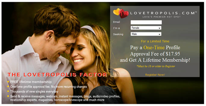 Lovetropolis.com Offers Free Lifetime Membership for Dating Service