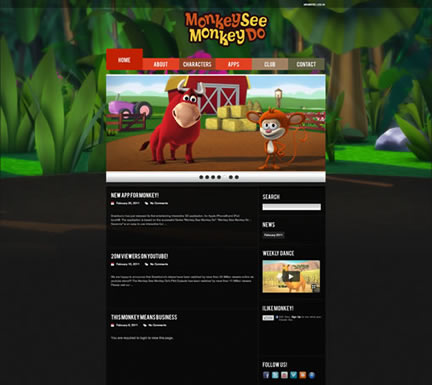 "New Website For ""Monkey See Monkey Do™"""