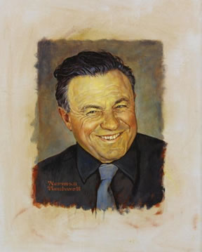 Norman Rockwell Original Oil on Canvas of Teddy Kollek at Auction