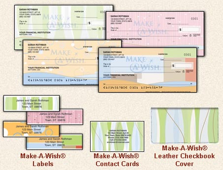 Support the make a wish foundation with new check designs for New check designs