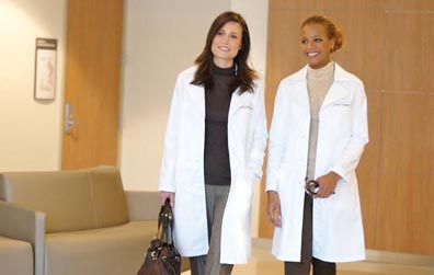 """The Doctors"""" Star Sports New, High Performance Lab Coats Designed ..."""