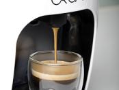 ORCA espresso machine brewing a cup of espresso
