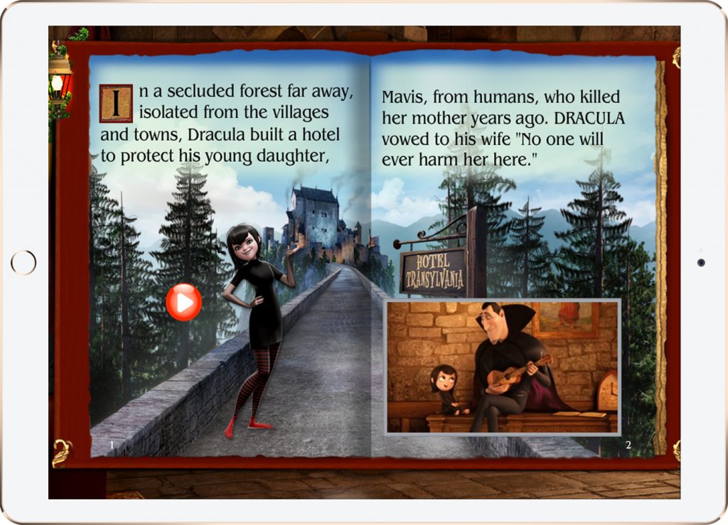 Sony Pictures' Hotel Transylvania Movie Storybook app for the iPad