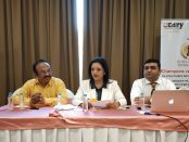 Mr. Joseph D'souza, Ms. Priya Anand and Mr. Imran Bandeali at Press conference held in Pune