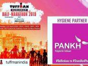 Pankh hygiene partner for Tuffman Gurugram Half Marathon