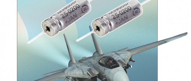 The Exxelia MIL 39006/22 Exxelia Hermetically Sealed Mil Wet Tantalum Capacitor has received the P-Level qualification for 0,1% / 1,000h reliability, with voltage ranges from 6V to 125V and a capacitance value ranging from 1,7µF to 1200µF.