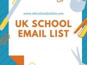 UK School Email List