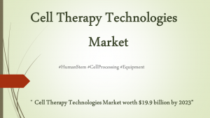 Cell Therapy Technologies Market