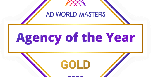 "Amptize - Winner of ""Agency Of The Year"" GOLD Award"