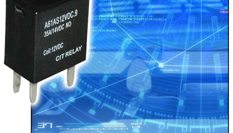 New CIT Series of Lightweight Automotive Relays with Suppression Options Generate Low Coil Power Consumption