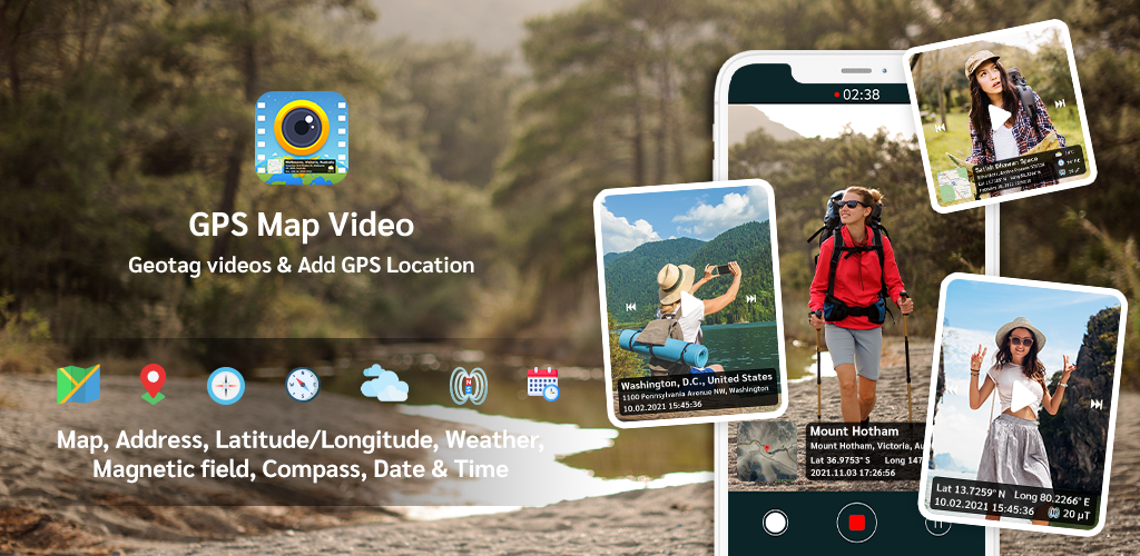 GPS video camera: Video stamp & watermark on video