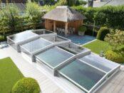 Low profile Pool enclosure